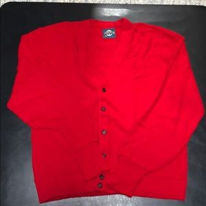 Sweaters - Vintage Jantzen Red Cardigan Sweater